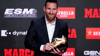 Messi receives his 6th European Golden Boot - Ceremony
