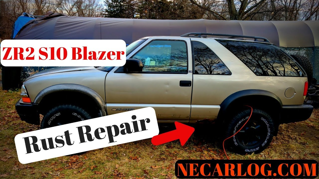 s10 blazer zr2 rust repair and brake inspection [ 1280 x 720 Pixel ]