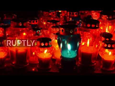 Bosnia and Herzegovina: Bosnian Croats lay candles in tribute to Slobodan Praljak