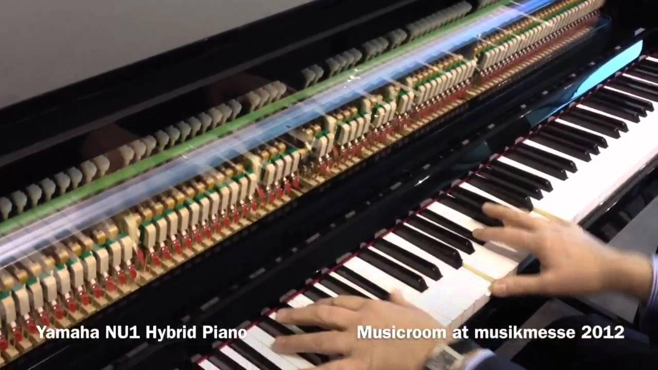 yamaha nu1 hybrid piano musicroom at musikmesse 2012. Black Bedroom Furniture Sets. Home Design Ideas