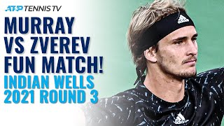 Andy Murray vs Alexander Zverev | Indian Wells 2021 Round 3 Highlights