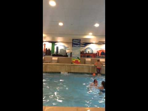 Swimming in a hotel pool in Dallas, TX