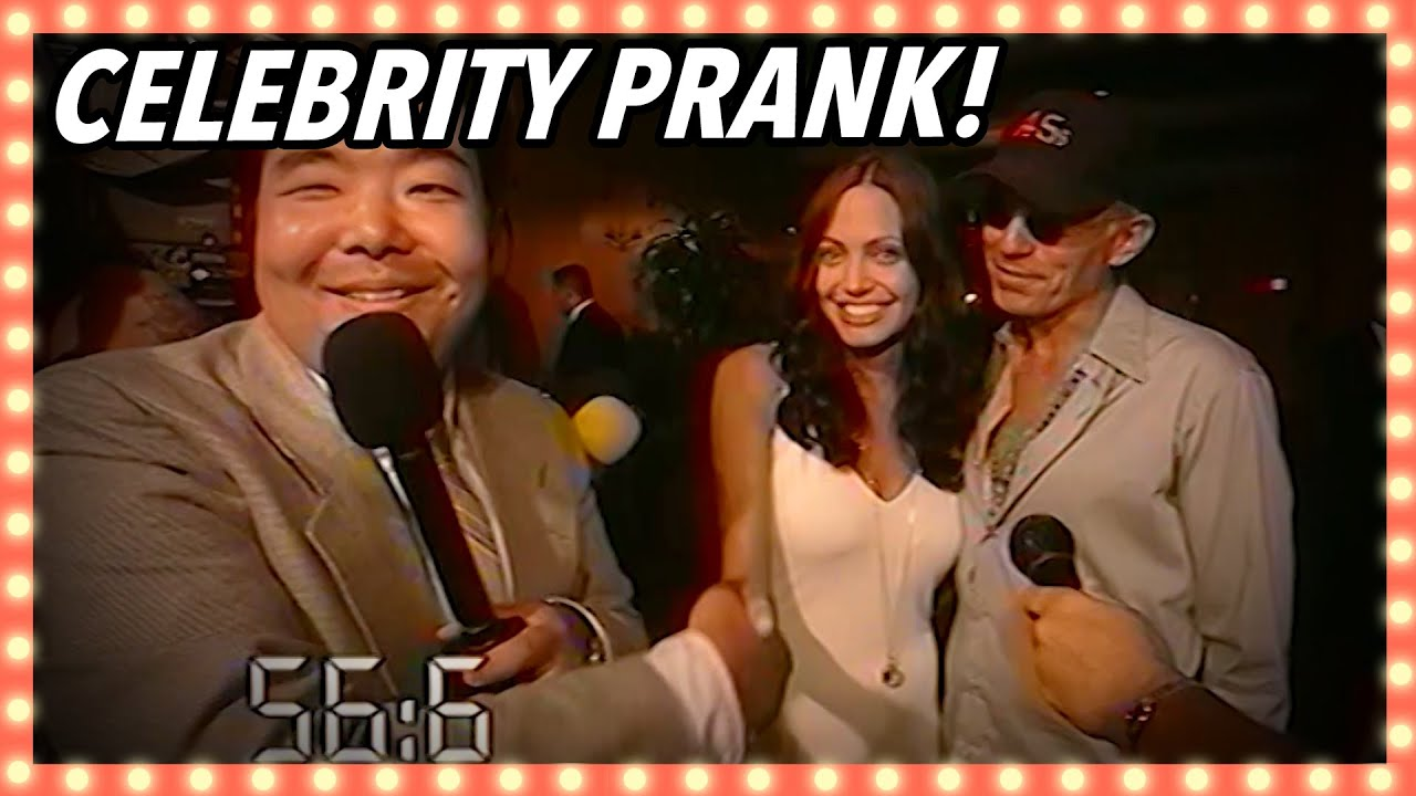 Not Letting Go Of Angelina Jolie's Hand | Celebrity Pranks | Banzai!