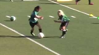 Isabel Liu - Dublin United Soccer League - U10G 2014 Tryouts - 1v1 Highlights
