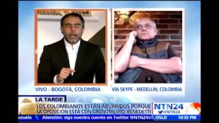 Acalorado debate de Armando Benedetti y José Obdulio Gaviria en NTN24 sobre proceso paz colombiano