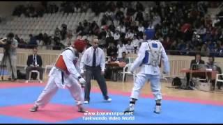 74kg Semifinal Kivanc dincsalman vs Ugur Gungor (Turkish Taekwondo Championships)