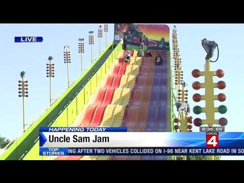 WDIV Reporter goes Airborne at Uncle Sam Jam!