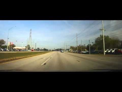 Driving through Downtown Tampa to Downtown St. Petersburg, FL