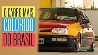 Golf Harlequin: o carro mais colorido do Brasil