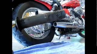 2007 Honda Shadow Spirit 750 C2 Hole Saw Mod