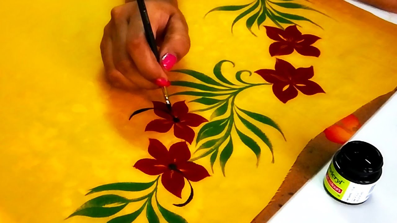 Awesome Design How To Draw Simple Border Design Quick And Easy Saree Kurti Border Designs