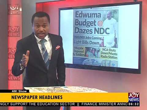 AM Show Newspaper Headlines on JoyNews (16-11-17)
