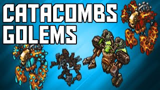 [Tibia Where to TEAMHunt - MS/ED 250+] Catacombs Golems (2kk/hr @ 271 & 352)