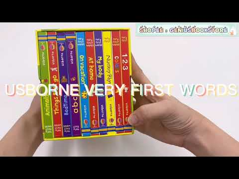 [ Genius Baby House ] Usborne Very First Words BK1998