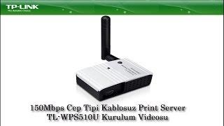 TP-LINK 150Mbps Cep Tipi Kablosuz Print Server TL-WPS510U