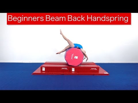 Beginners Beam Back Handspring
