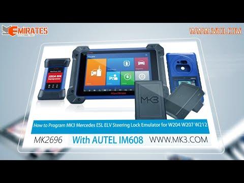 How to Program MK3 ELS ELV Steering Lock Emulator for W204 W207 W212 with AUTEL IM608