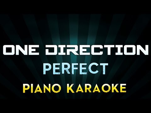 One Direction - Perfect | Piano Karaoke Instrumental Lyrics Cover Sing Along