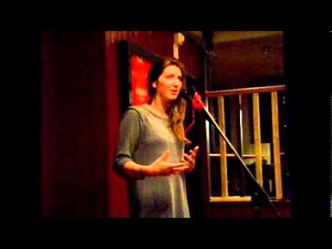 Ceri Destefano at the Back of the Pub Poetry Club on 21/07/2013