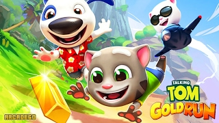 Talking Tom Gold Run - New World Map Hank on Hawaii - Neon Lights and City Sights Character Unlocked