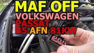 HOW TO - dioda misto vahy vzduchu - MAF-OFF - Volkswagen Passat B5