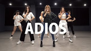 EVERGLOW 에버글로우 - Adios | 커버댄스 DANCE COVER | 안무 거울모드 MIRRORED | 연습실 PRACTICE ver.