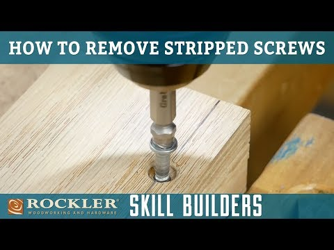 How to Remove Stripped Screws with a Screw Extractor   Rockler Skill Builder