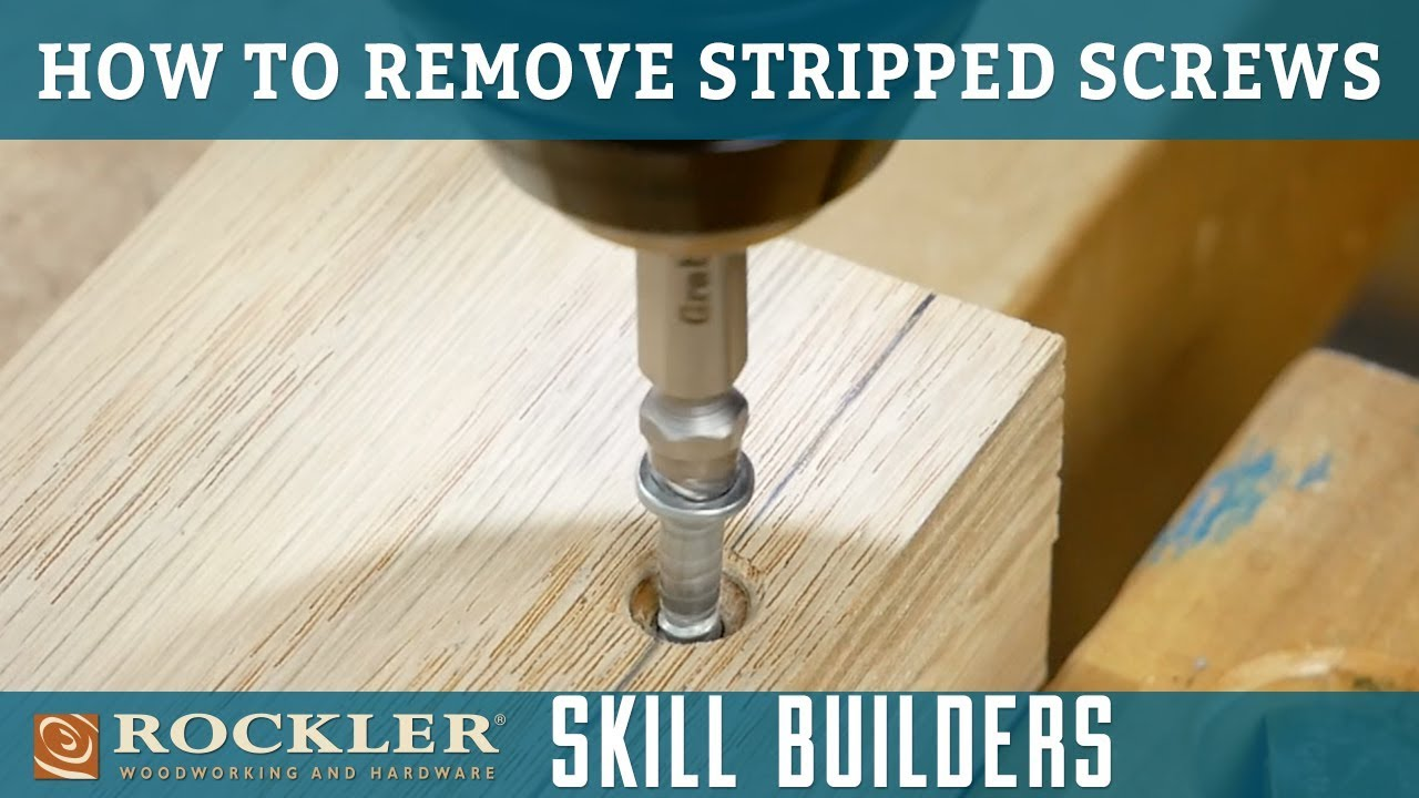 how to remove stripped screws with a screw extractor | rockler skill builder