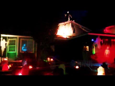 Slipknot - Devil In I - Halloween Light Show and Yard Haunt