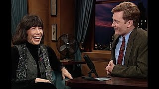 Lily Tomlin's Travel Woes   Late Night with Conan O'Brien