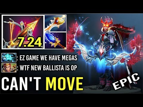 NEW CRAZY 7.24 Pure Damage Ballista Rapier Drow Ranger Megas Defense Vs Counter Pick SS EPIC Dota 2