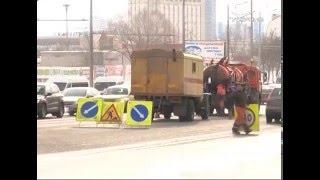 В Самаре перекрыли Московское шоссе