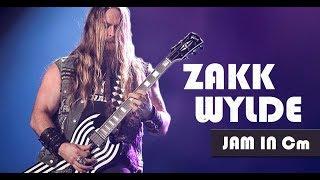 Zakk Wylde Ballad Guitar Backing Track in Cm