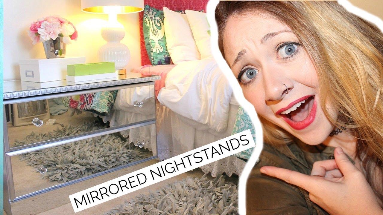 Diy mirrored nightstands youtube solutioingenieria Choice Image