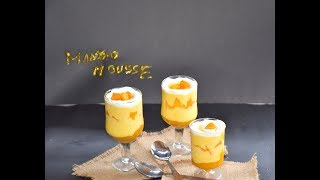Eggless Mango Mousse | Creamy Mango Sweet Recipe | Easy Mango Dessert Recipe #356