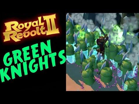 ROYAL REVOLT 2 - HOW TO UNLOCK GREEN KNIGHTS (+epic Raid!)