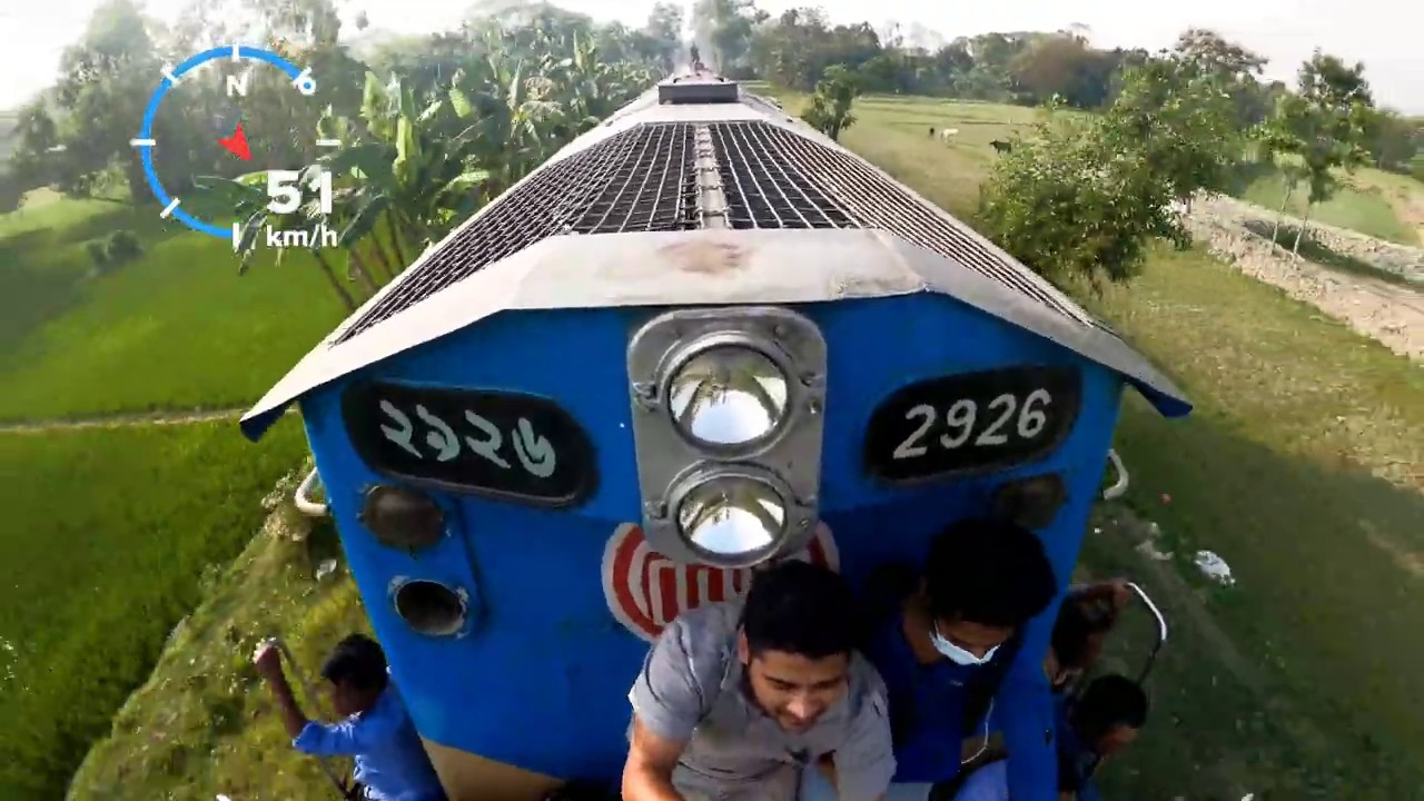 Loco Ride || 2926 || infront Of a Train ||  Go pro Video 4k
