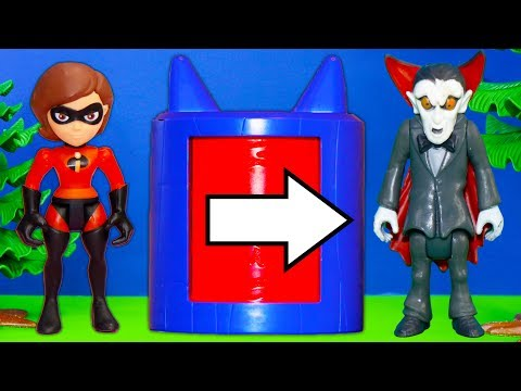 Incredibles Face PJ Masks Romeo and get turned into Spooky Creatures