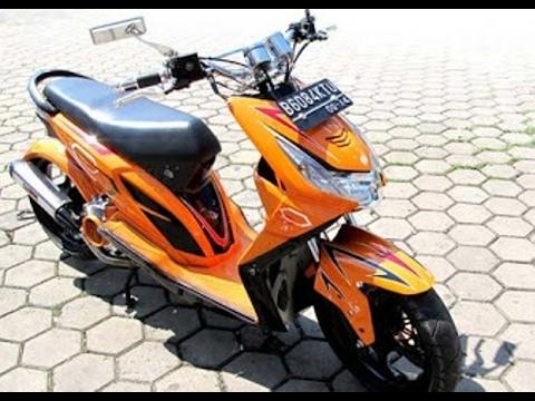 49 Gambar Modifikasi Motor Beat Warna Orange Terpopuler