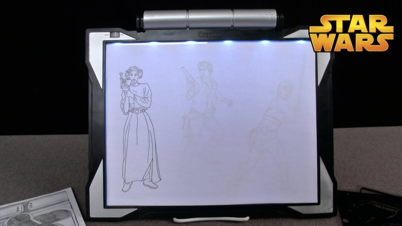 Star Wars Light Up Tracing Pad From Crayola Youtube