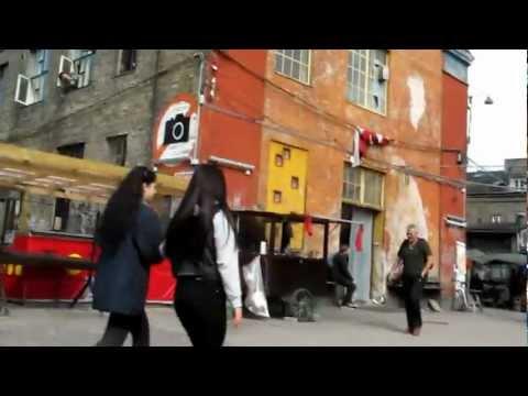 Copenhagen - walking through the hippie area of Christiania