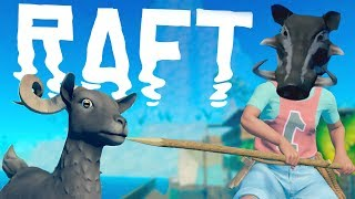 The LARGEST Island Yet in Raft EXPLORED! - Goat Chasing and Warthog Slaying in Raft!