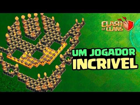 INACREDITÁVEL!!! JOGADOR CHEGA NA LIGA TITÃ ATACANDO SOMENTE COM GOBLINS! CLASH OF CLANS 2017