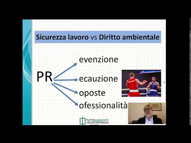 Corso GRATUITO di Stefano Maglia sulle differenze tra Diritto Ambientale e Sicurezza Lavoro.