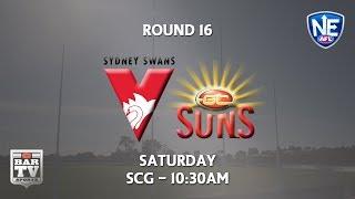 2018 Round 16 - Sydney Swans v Gold Coast Suns thumbnail