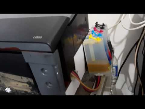 How to convert Epson L1300 to Eco solvent in simple way.