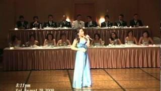 kaitlyn sings at kristelles debut