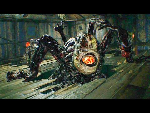 Resident Evil 7 Giant Mutant Jack Baker Boss Fight Youtube