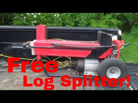 Free Wood Splitter, Just Needs a Hose Repair, I Love Free Stuff!