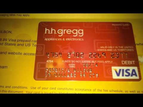 HH.GREGG DEBIT CARD 2013 AFTER PURCHASE WASHER N D